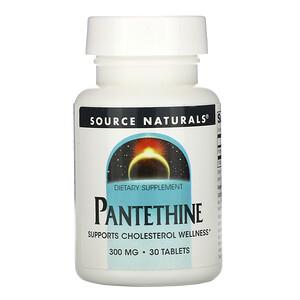 Сорс Начэралс, Pantethine, 300 mg, 30 Tablets отзывы покупателей