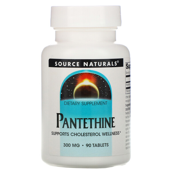 Pantethine, 300 mg, 90 Tablets