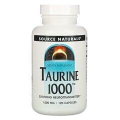 Source Naturals, 牛磺酸 1000,1000 毫克,120 粒膠囊