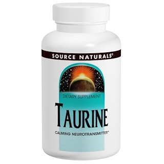 Source Naturals, Taurine 1000, 1,000 мг, 120 капсул