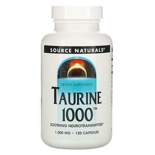 Source Naturals, Taurine 1000, 1,000 mg, 120 Capsules