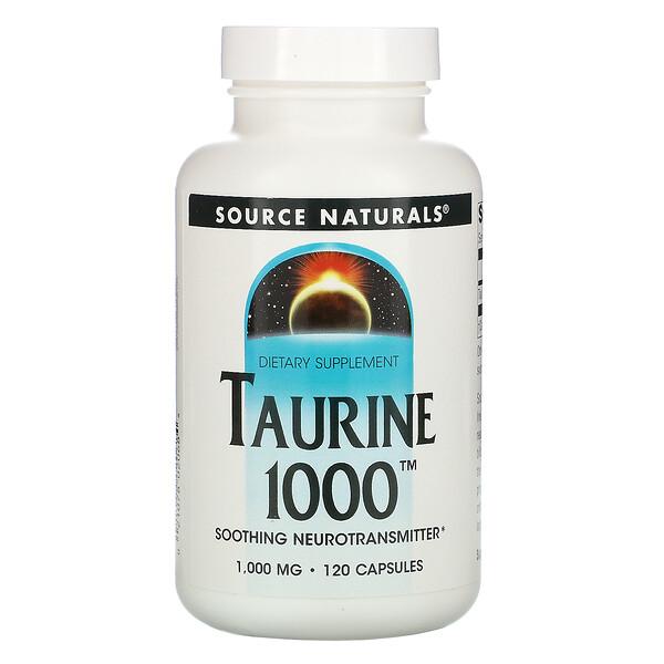 Taurine, 1,000 mg, 120 Capsules