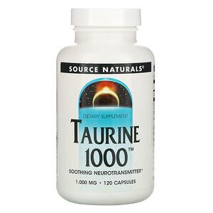 Сорс Начэралс, Taurine 1000, 1,000 mg, 120 Capsules отзывы