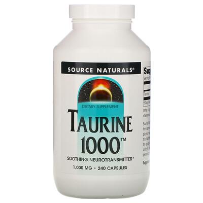 Source Naturals Таурин, 1000 мг, 240 капсул  - купить со скидкой