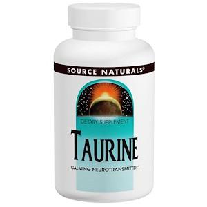 Source Naturals, Таурин 1000, 1000 мг, 240 капсул инструкция, применение, состав, противопоказания