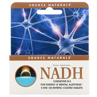 Source Naturals, NADH, CoEnzima B-3, 5 mg, 30 tabletas
