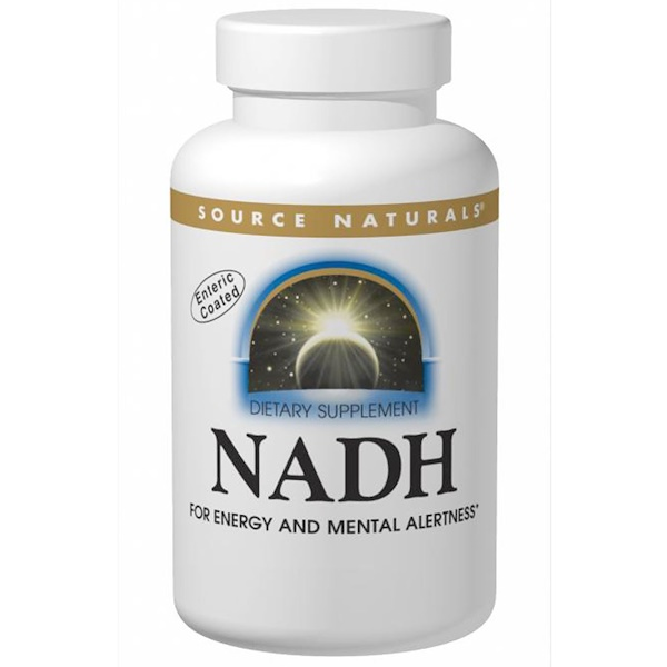 Source Naturals, NADH, Peppermint Sublingual, 10 mg, 10 Tablets (Discontinued Item)