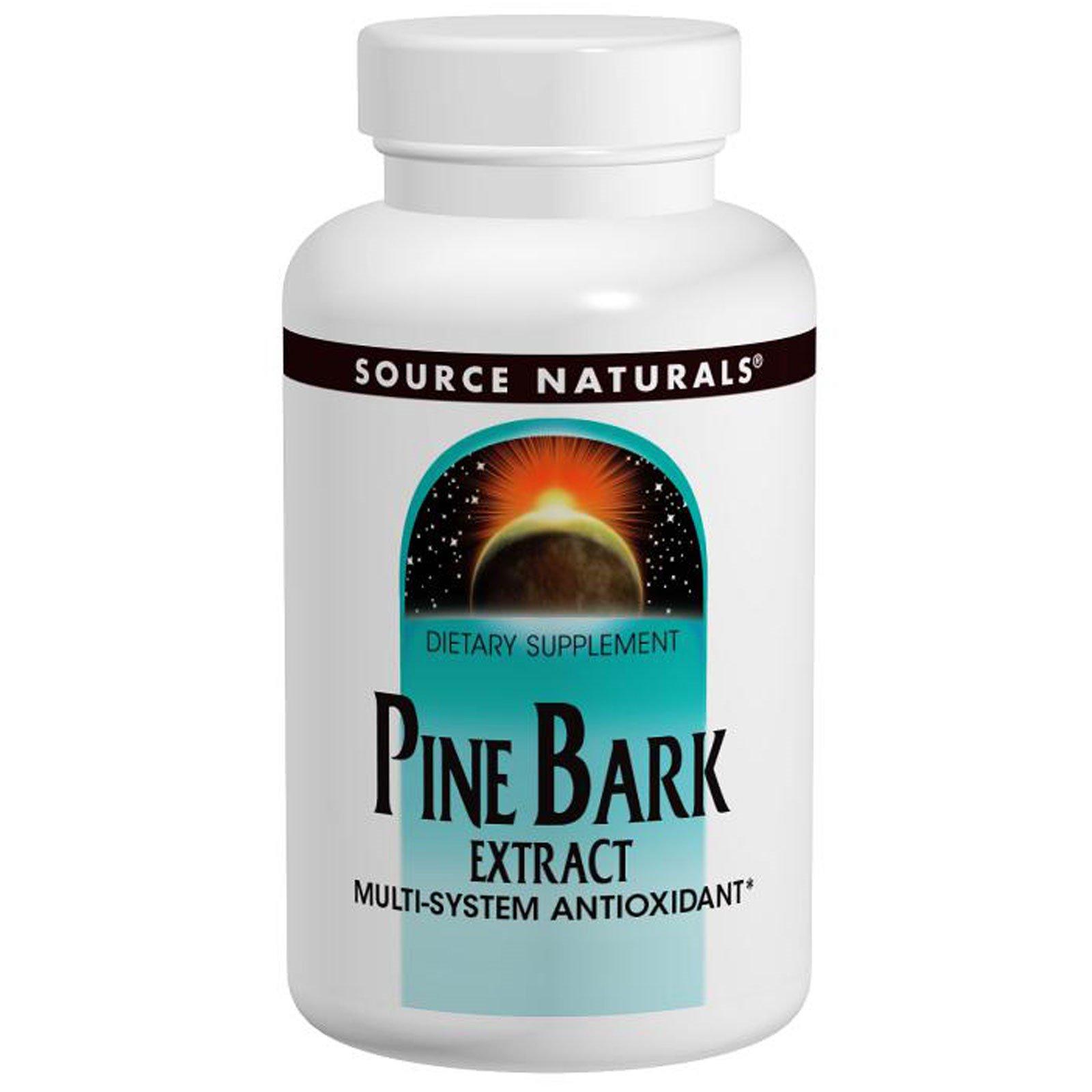 Source Naturals, Экстракт сосновой коры, 60 таблеток