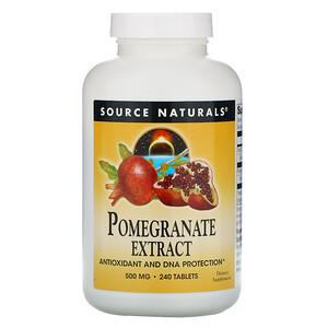 Сорс Начэралс, Pomegranate Extract, 500 mg, 240 Tablets отзывы