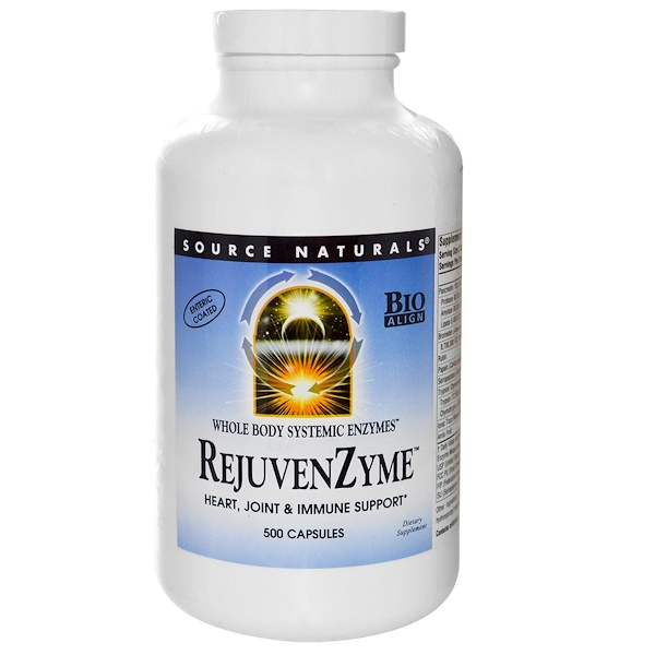 Source Naturals, RejuvenZyme, 500 Capsules (Discontinued Item)