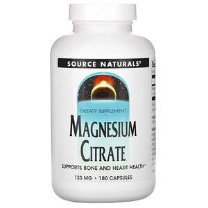 Сорс Начэралс, Magnesium Citrate, 133 mg, 180 Capsules отзывы