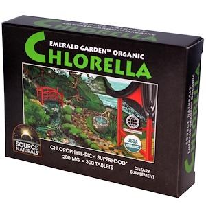 Сорс Начэралс, Emerald Garden Organic, Chlorella, 200 mg, 300 Tablets отзывы