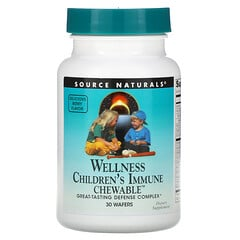 Source Naturals, 兒童健康抵抗咀嚼片,美味漿果味,30片