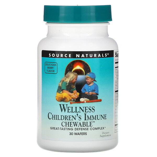 Wellness, Children's Immune Chewable, Delicious Berry Flavor, 30 Wafers