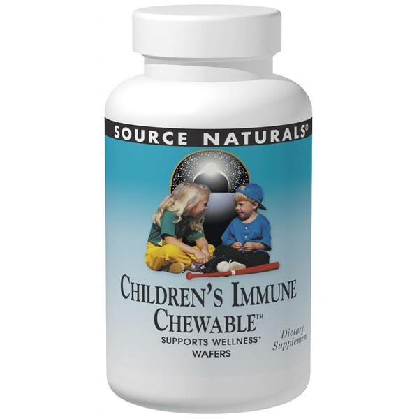 Source Naturals, Wellness Children's Immune Chewable, Berry Flavor, 120 Wafers