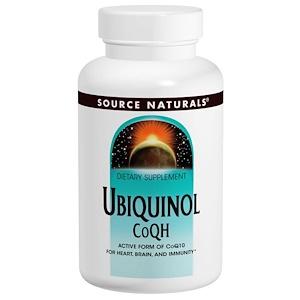 Source Naturals, Убихинол CoQH??, 100 мг, 90 капсул инструкция, применение, состав, противопоказания