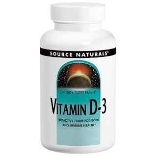 Source Naturals, Vitamin D-3, 2000 IE, 200 Kapseln