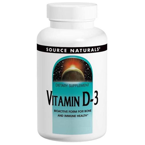Source Naturals, Витамин D-3, 2000 МЕ, 200 капсул
