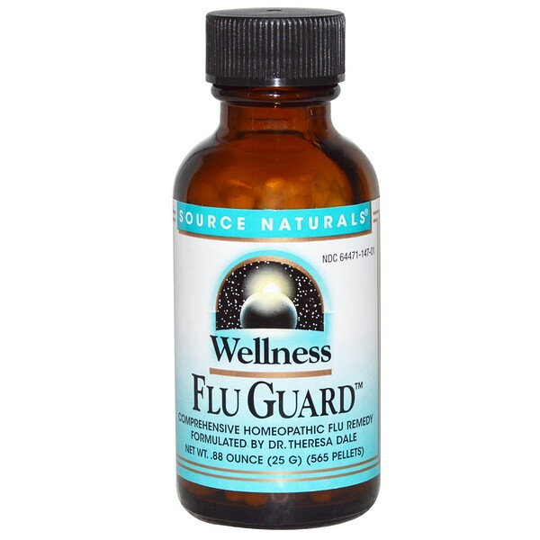 Source Naturals, Wellness FluGuard, .88 oz (25 g), 565 Pellets