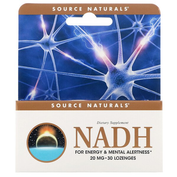 Source Naturals, NADH, 20 mg, 30 comprimidos sublinguales