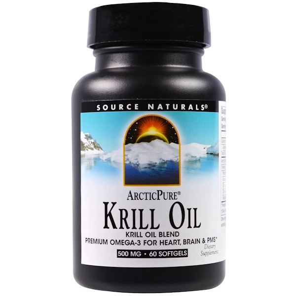 Source Naturals, Arctic Pure, Krill Oil, 500 mg, 60 Softgels