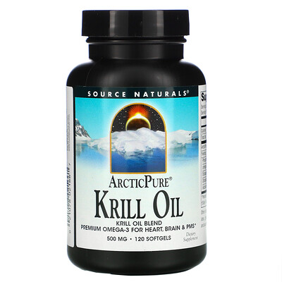 Source Naturals ArcticPure, масло криля, 500мг, 120капсул