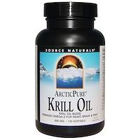 Arctic Pure, масло криля, 500 мг, 120 желатиновых капсул - фото