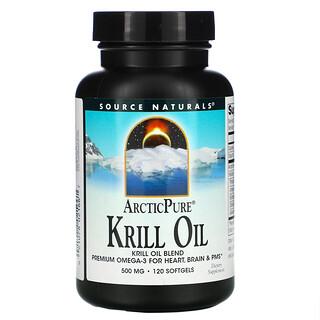 Source Naturals, ArcticPure, Krill Oil, 500 mg, 120 Softgels