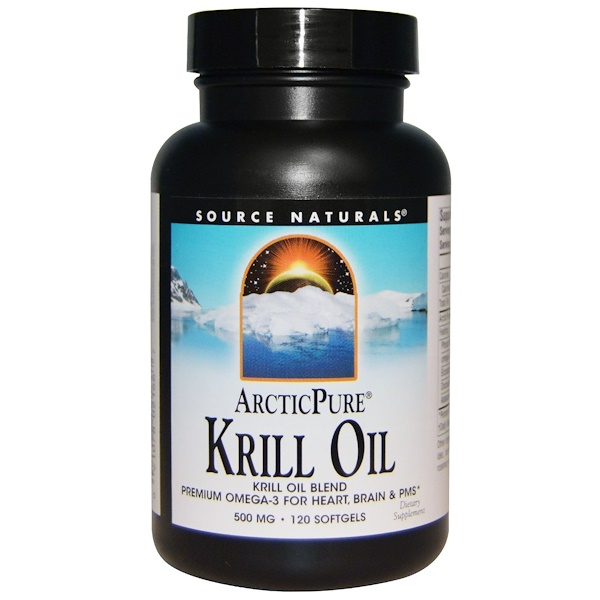 Source Naturals, Arctic Pure, Krill Oil, 500 mg, 120 Softgels