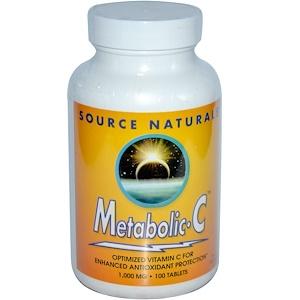 Сорс Начэралс, Metabolic C, 1,000 mg, 100 Tablets отзывы