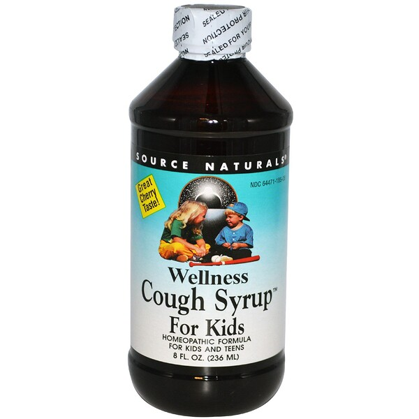 Source Naturals, Wellness Cough Syrup For Kids, Great Cherry Taste, 8 fl oz (236 ml)