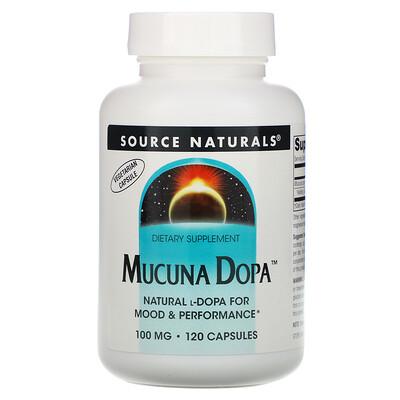 Купить Source Naturals Mucuna Dopa, 100 мг, 120 капсул