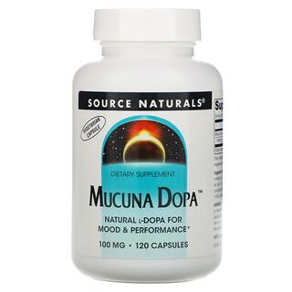 Source Naturals, Mucuna Dopa, 100 mg, 120 Capsules