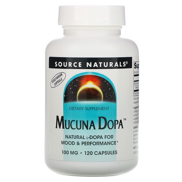 Mucuna Dopa, 100 mg, 120 Capsules