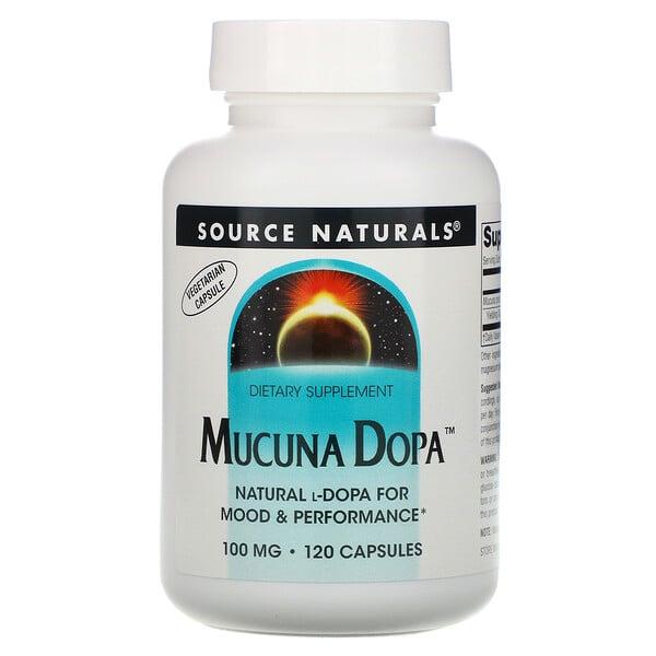 Mucuna Dopa, 100 mg, 120 Cápsulas