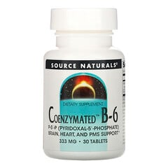 Source Naturals, Coenzymated B-6,333 毫克,30 片