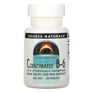Source Naturals, Coenzymated ب-6، 333 ملجم، 30 قرصًا