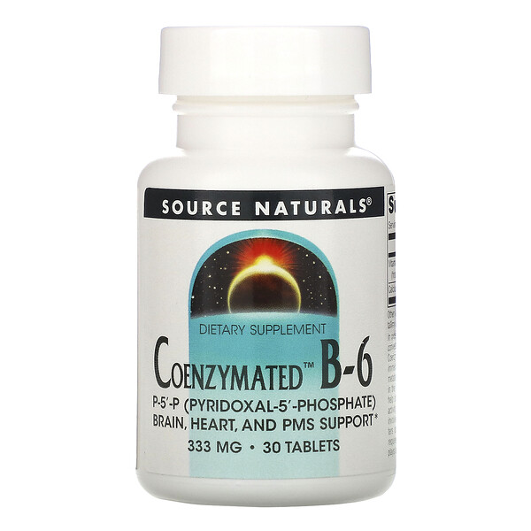 Source Naturals, Coenzymated B-6, 333mg, 30정