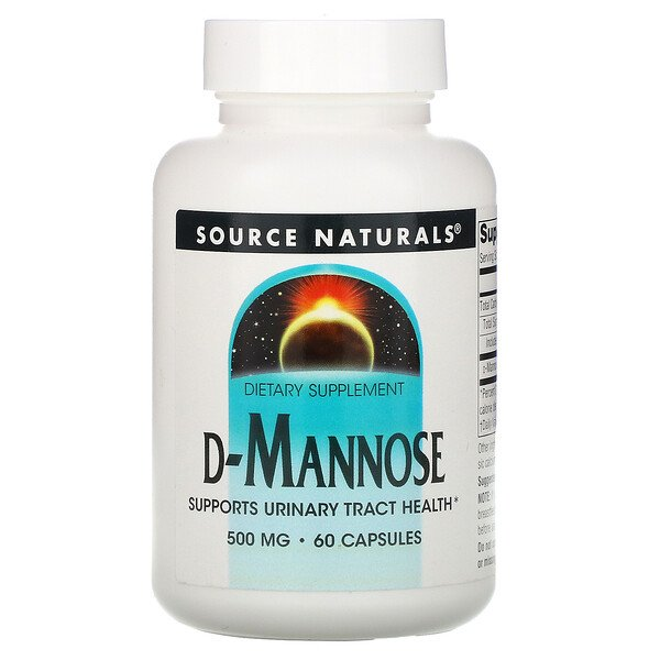 D-Mannose, 500 mg, 60 Capsules