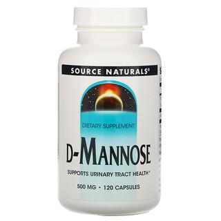 Source Naturals, D-Manose, 500 mg, 120 Comprimidos