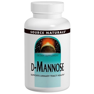 Source Naturals, D-Mannose, 500 mg, 120 Capsules