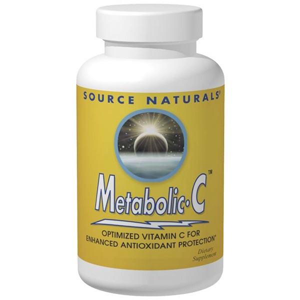 Source Naturals, Metabolic C, 500 mg, 180 Cápsulas