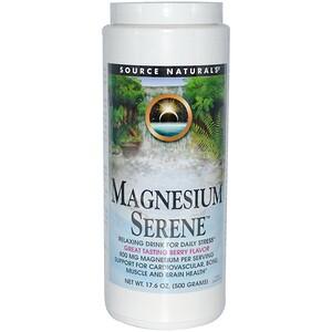 Сорс Начэралс, Magnesium Serene, Berry Flavor, 17.6 oz. (500 g) отзывы