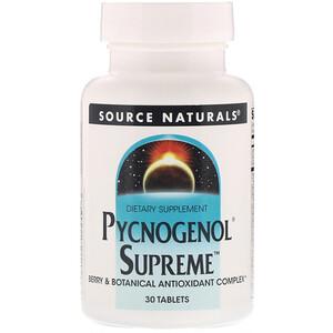 Сорс Начэралс, Pycnogenol Supreme, 30 Tablets отзывы