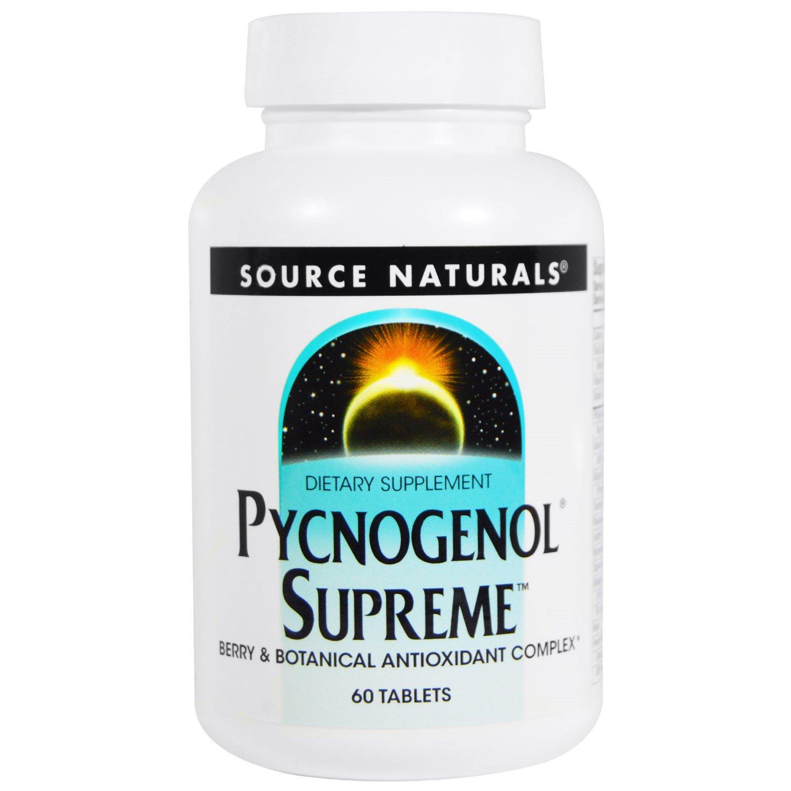 Source Naturals, Pycnogenol Supreme, 60 таблеток
