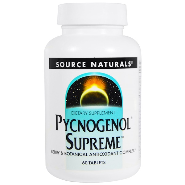 Source Naturals, Pycnogenol Supreme, 60 Tablets