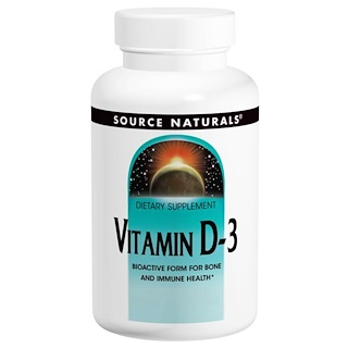 Source Naturals, Vitamin D-3, 2.000 IE, 200 weiche Gelkapseln