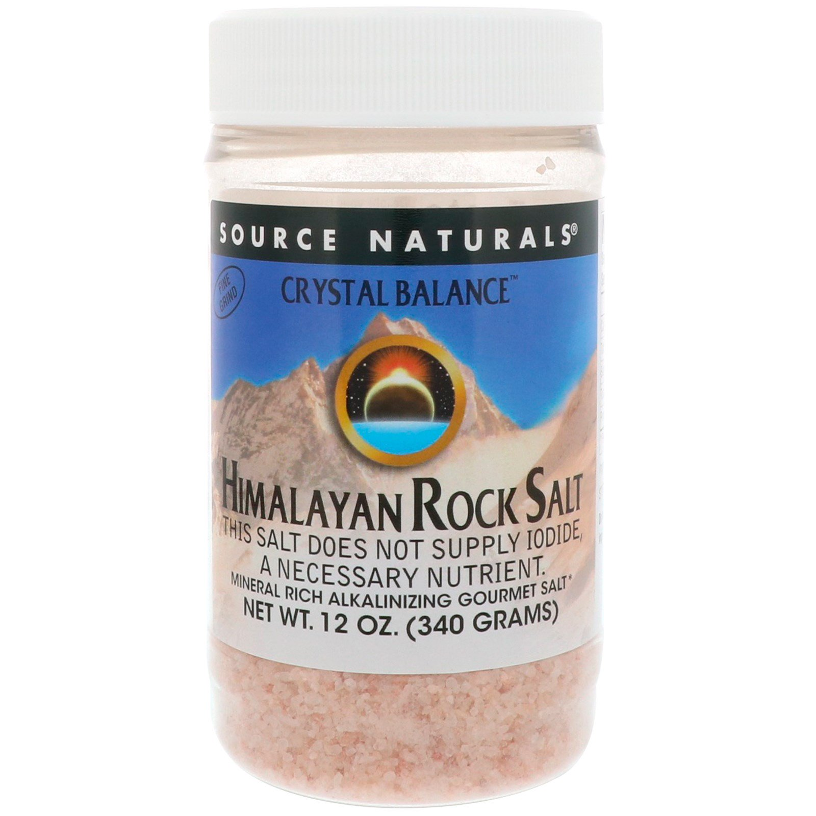 Source Naturals, Crystal Balance, Himalayan Rock Salt, Fine Grind, 12 oz  (340 g)