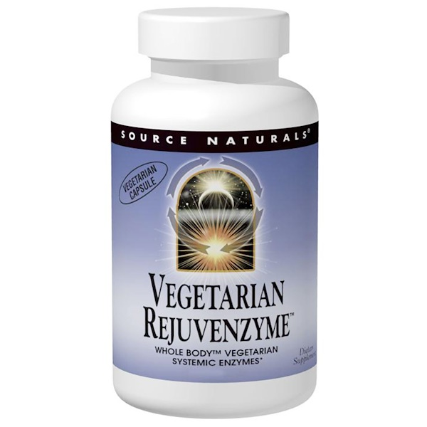 Source Naturals, Vegetarian Rejuvenzyme, 120 Capsules (Discontinued Item)