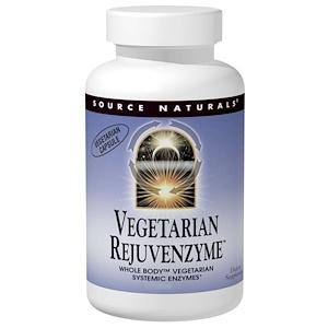 Сорс Начэралс, Vegetarian Rejuvenzyme, 120 Capsules отзывы